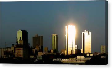 Fort Worth Gold Canvas Print