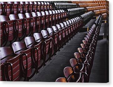 Fort Worth Stockyards Coliseum Seating Canvas Print by Jeremy Woodhouse