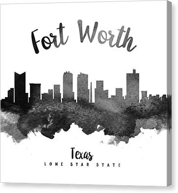 Fort Worth Texas Skyline 18 Canvas Print by Aged Pixel