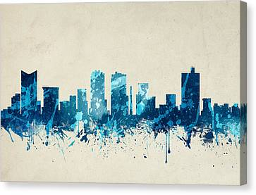 Fort Worth Texas Skyline 20 Canvas Print by Aged Pixel