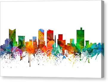 Fort Worth Texas Skyline 21 Canvas Print by Aged Pixel