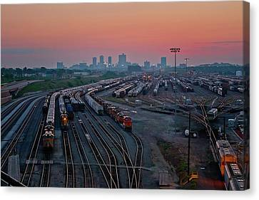 Fort Worth Trainyards Canvas Print