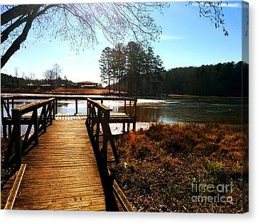 Fort Yargo Boardwalk Canvas Print by Utopia Concepts