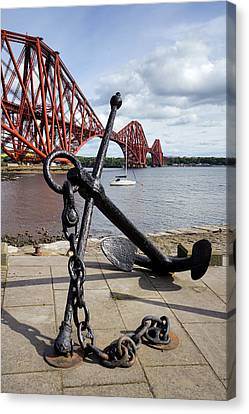 Canvas Print featuring the photograph Forth Bridge by Jeremy Lavender Photography