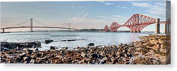 Forth Bridges Panorama Canvas Print
