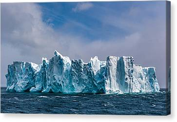 Ice Canvas Print - Fortress Antarctica - Iceberg Photograph by Duane Miller