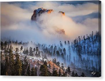 Fortress In The Clouds Canvas Print