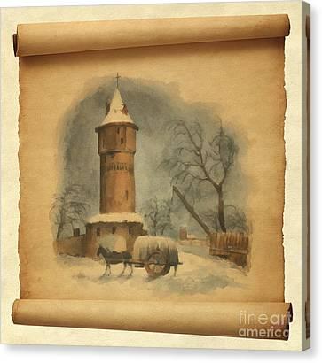 Antik Canvas Print - Fortress Tower by Sergey Lukashin