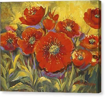 Fortuitous Poppies Canvas Print