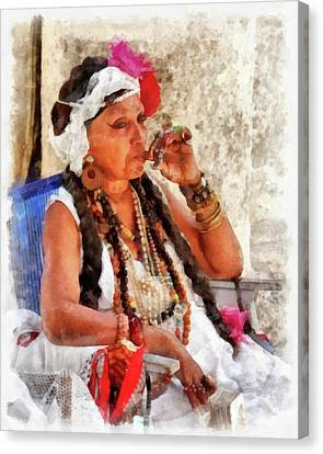 Fortune Teller Canvas Print by Dawn Currie