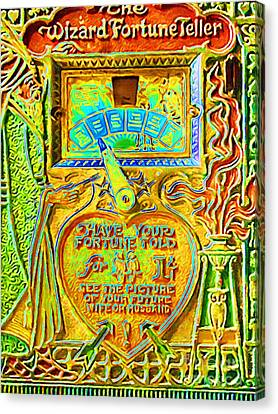 Kitschy Canvas Print - Fortune Teller Machine 20161108v2 by Wingsdomain Art and Photography