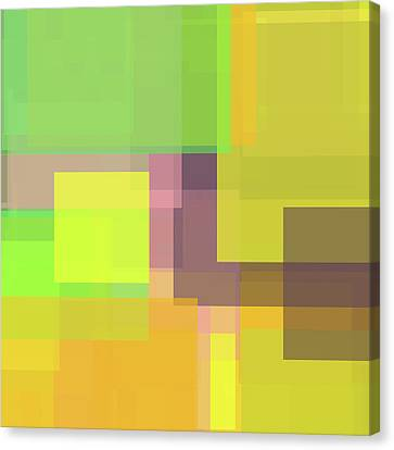 Forty -square- -composition- Canvas Print by Coded Images