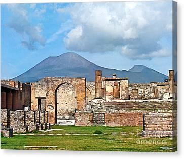 Forum Pompeii Canvas Print