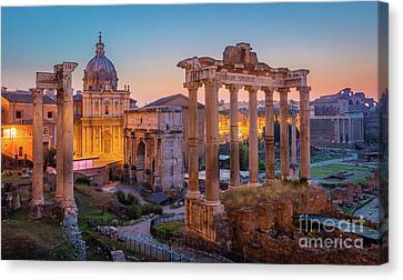 Forum Romanum Dawn Canvas Print by Inge Johnsson