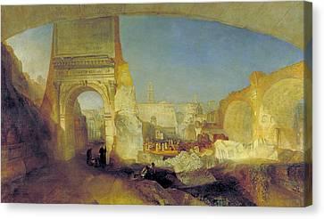 Forum Romanum, For Mr Soane's Museum Canvas Print by JMW Turner