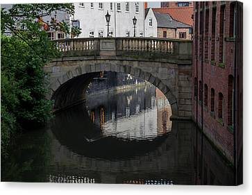 Canvas Print featuring the photograph Foss Bridge - York by Scott Lyons