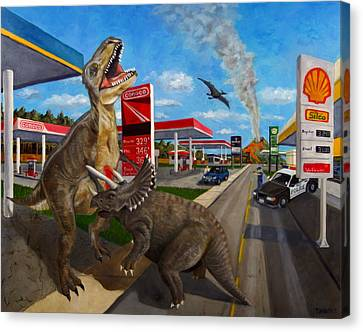 Fossil Fuel Canvas Print by Thomas Weeks
