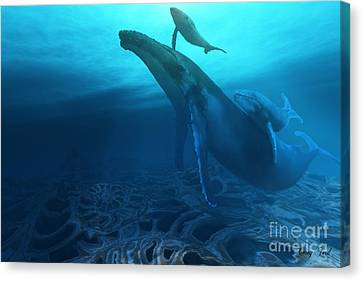 Fossils Canvas Print by Corey Ford