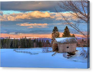 Canvas Print featuring the photograph Foster Covered Bridge - Cabot, Vermont by Joann Vitali
