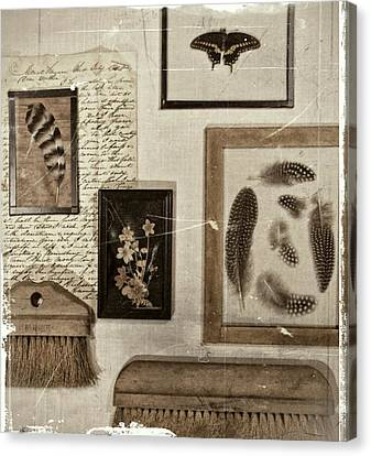 Found Object Assemblage Canvas Print