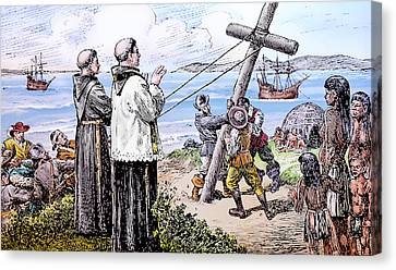 Founding Of Mission San Diego De Alcala Canvas Print