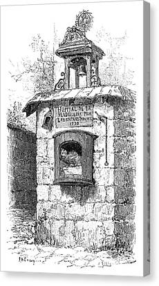 Foundling Tower, 19th Century Canvas Print by Spl