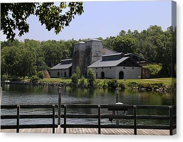 Foundry Building Fayette State  Park 2 Canvas Print by Mary Bedy