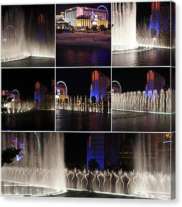 Fountain Collage Canvas Print by Art Spectrum