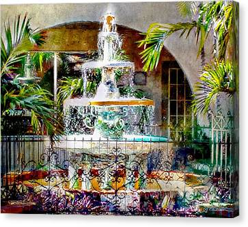 Fountain Of Water Canvas Print