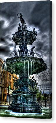 Fountain Of Youth Canvas Print by Christopher Lugenbeal