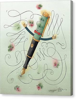 Fountain-pen  Canvas Print