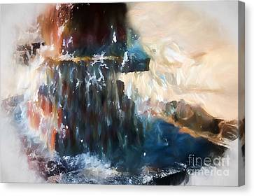 Canvas Print featuring the digital art Fountain Pleasure by Margie Chapman