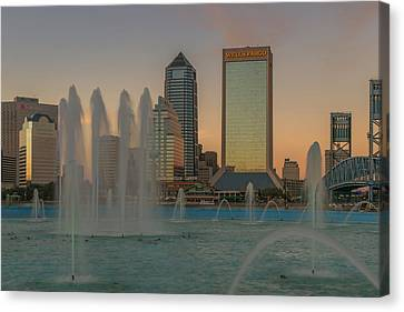 Florida Bridge Canvas Print - Fountain View by Capt Gerry Hare