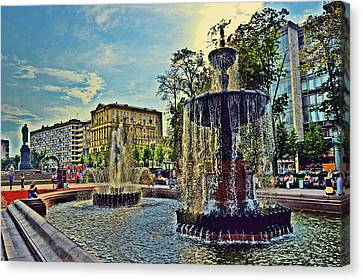 Fountains. Canvas Print by Andy Za