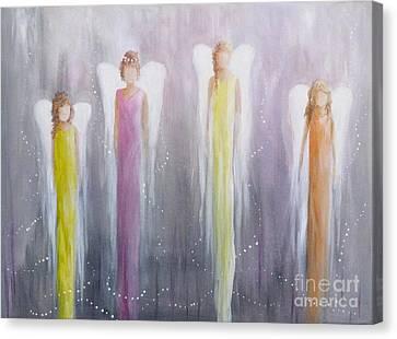 Four Angels Canvas Print