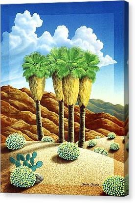 Four Bunch Palms Canvas Print by Snake Jagger