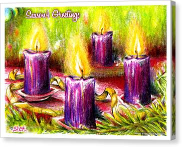 Four Candles Canvas Print by James Sayer