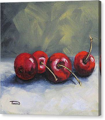 Four Cherries Canvas Print