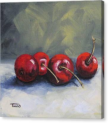 Four Cherries Canvas Print