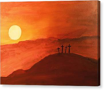 Four Crosses Canvas Print by David Stasiak