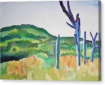 Four Dead Trees After Edward Hopper Canvas Print