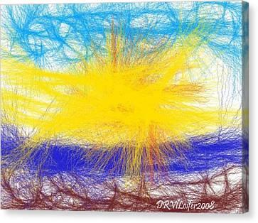 Canvas Print featuring the digital art Four Elements by Dr Loifer Vladimir