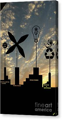 Four Energy Source Canvas Print