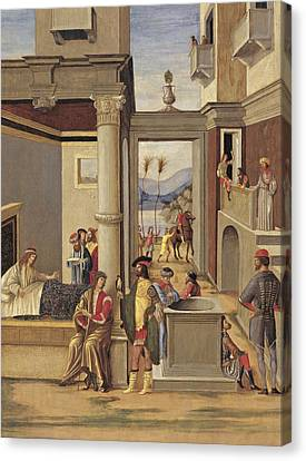 Four Episodes From The Life Of Alexander The Great Canvas Print by Follower of Vittore Carpaccio