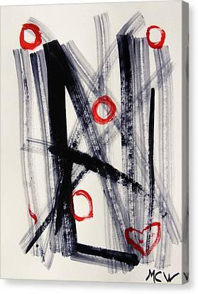 Four Hugs Canvas Print by Mary Carol Williams