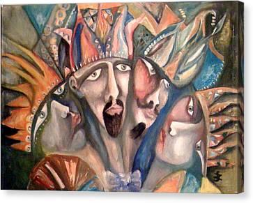Four Kings Canvas Print by Gyorgy Szilagyi