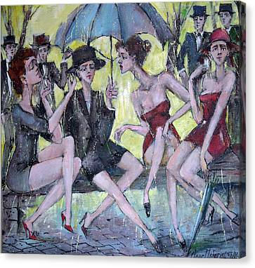 Four Ladies Canvas Print