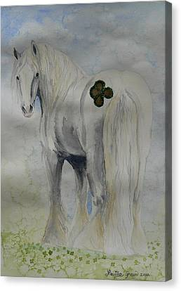 Four Leaf Clover Cob Canvas Print by Louise Green