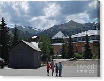Four Little Children Safe In A Big Beautiful World Telluride Colorado Canvas Print
