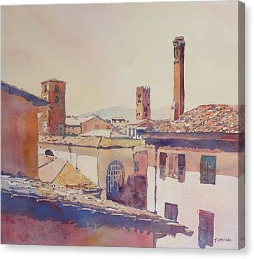 Four Luccan Towers Canvas Print